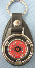 Vintage Red PACKARD Mini Black Leather Key Ring 1930 1931 1932 1933 1934 1935