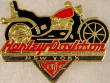 Harley-Davidson Cafe NEW YORK 1990s Red & Black Motorcycle PIN Bike w/ HDC Logo