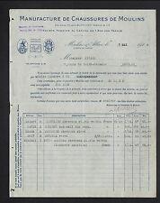 """MOULINS (03) USINE de CHAUSSURES """"DOLL / Ancienne Maison BLANCHER Freres"""" en1924"""