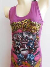 Emperor Eternity  Glittering Glamber heart Woman tattoo T shirt Purple XS