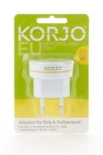 New Korjo Italy/Swiss Adaptor Accessories Cream by-Strandbags
