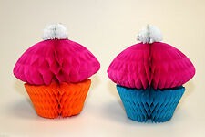 Cupcake honeycomb centre pieces hanging decorations party decorations