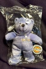 SOUTHWEST AIRLINES TEDDY BEAR PURPLE DARON TRAVEL 2004 SEALED IN PACKAGE RETIRED