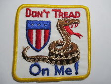 Don't Tread on Me! Original Vintage Patch 3 x 3 inches