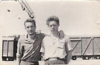 1960 Handsome young men friends guys buddies couple Russian Soviet photo gay int