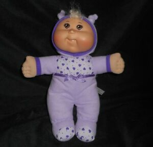 "12"" CABBAGE PATCH KIDS CPK 2009 PURPLE HEARTS OUTFIT DOLL STUFFED ANIMAL PLUSH"