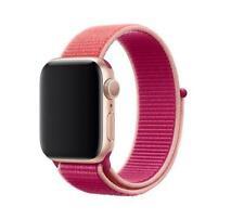 Genuine Apple Watch Nylon Sport Loop Strap Band 38mm / 40mm - Pomegranate - New
