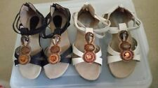 Zip Suede Ankle Strap Sandals & Flip Flops for Women