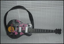 ACCESSORY BARBIE HARD ROCK MODEL MUSE DOLL BLACK PINK PRINT GUITAR FOR DIORAMA