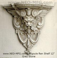 """Gargoyle Satyr wall Shelf corbel Grotesque goblin sculpture Sconce Pedestal 12"""""""