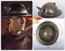 1:1 The Flash 2 Jay Garrick Silver Kettle Tinplate Metal Helmet Cosplay Prop Hat