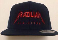 3091bb3ecff Metallica Brazilian Jiu-Jitsu Snapback Hat New mma ufc bjj Gracie Flat Brim