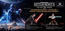 Star Wars Battlefront 2 (XB1) Pre-Order DLC - Last Jedi Heroes Bonus Content!