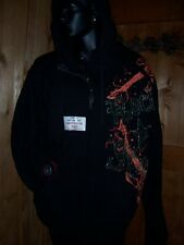 ROCK STAR HOODIE by TOOL JEANS in Black and Teal  2XL, 3XL NWT