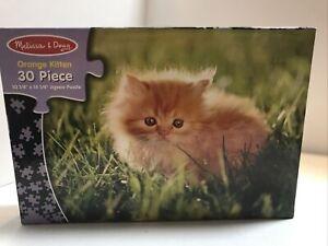 Melissa & Doug 30 Pc Kitten Cat Kids Jigsaw Puzzle # 1350 USED