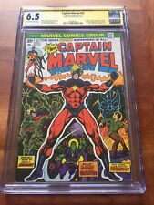 CAPTAIN MARVEL #32 CGC 6.5 SIGNED BY JIM STARLIN Classic Bronze Key Cover