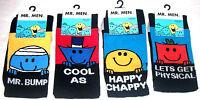 Mens Novelty Mr Men Character  Socks Uk Size 6 - 11  Eur 39 - 45  New