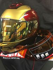 HJC IS-17 IRON MAN MARVEL HELMET LARGE FREE EXTRA GOLD MIRRORED SHIELD