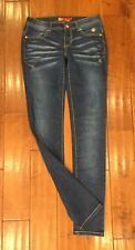 "TRENDY APPLE BOTTOMS SLIM/SKINNY JEANS 34"" LONG INSEAM SZ 7/8 EUC"