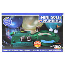 Mini Golf Drinking Game  Adult Party Game Drinking Shot Glasses Included
