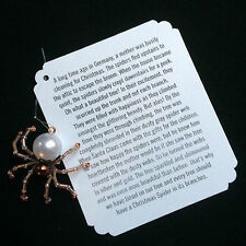 German Christmas Spider Ornaments (15 Gold + 10 Copper)