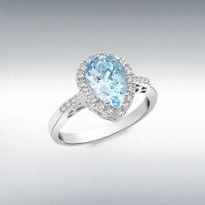 Anillos de joyería con diamantes anillo de compromiso de oro blanco