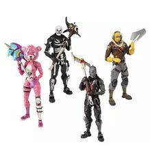 """Fortnite Figures 7"""" Action Figure Bundle All 4 Black Knight Skull Trooper Raptor"""