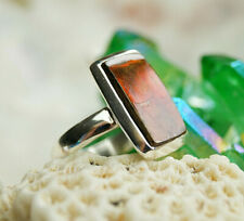 Ring 925er Silber 56 57 58 Boulder Opal Braun Farbflash Multicolor Silberring
