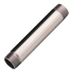 """STAINLESS STEEL 316 PIPE THREADED -  1/4"""" To 2"""" -  LENGTHS 100mm To 500mm"""