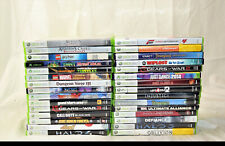 30 Microsoft Xbox 360 Assorted Games Halo 4 and Assasins Creed (4130)