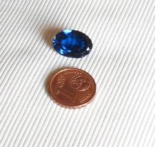 Zaffiro taglio ovale sfaccettato 5ct ca. sintetico