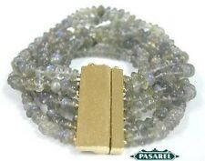 New 14k Yellow Gold Labradorite Designer Bracelet