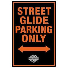 "HARLEY DAVIDSON-Street Glide Parking Only Embossed 12"" X  18"" TIN SIGN!"
