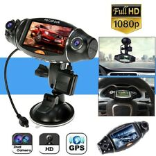 1080P HD Dual Lens Car DVR GPS Vehicle Dash Cam Video Recorder G-Sensor Camera