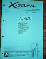 CITROEN XSARA 1997 Karosserie Unfall Instandsetzung WERKSTATT HANDBUCH