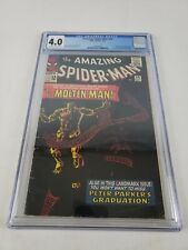 THE AMAZING SPIDER-MAN #28 CGC 4.0 OFF-WHITE TO WHITE PAGES 1ST APP. MOLTEN MAN