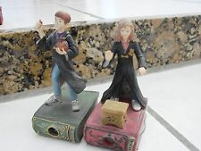 2000 Harry Potter Enesco Story Scopes Harry Ron & Hermione Viewers,broken wands