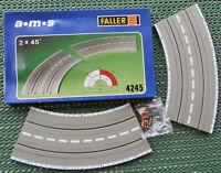 Faller Ams 4245 2 X Courbe 45 Degré Emballage D'Origine