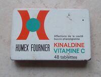 Vintage old French tin box HUMEX FOURNIER  advertising France 70s vitamine C