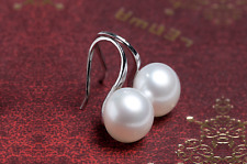 Pair of Pearl Drop Dangle Earrings Ariana Grande Style Droplet Mother Pearl
