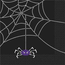 LIQUIDATION Halloween Toile D'araignées Papier Fête Serviettes De Lunch x 16