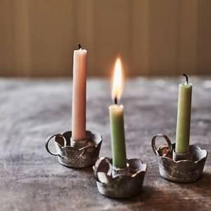 Rowen & Wren Clemence Scalloped Mini Candle Candlestick Holder, Brand New