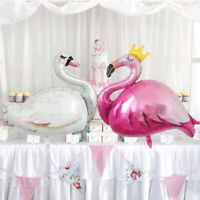 Large white swan foil balloon flamingo crown balloons birthday decor kids to Hs