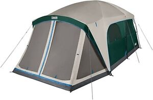 Coleman Camping Tent | Skylodge 12 Person Tent | Screen Room, Evergreen
