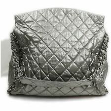 Chanel Tote Bag  Silver Leather 1404361