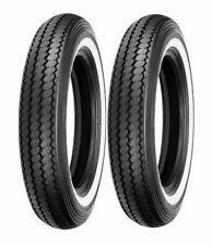 2 shinko mt9016 classic 240 white wall front u0026 rear tire set