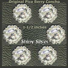 """Gold and Silver Slotted Rope Edge Concho 1-1//2/"""" 3485-NGS"""