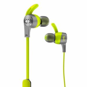 Monster iSport Achieve In-Ear Wired Sport Headphones, Green NEW