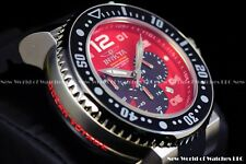 "Invicta Men's 52mm Pro Diver ""Ocean Voyage"" Red Black Chrono Silicone SS Watch"