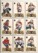 2000-01 Pacific Paramount COPPER Montreal Canadiens Team Set (9) Koivu Etc.